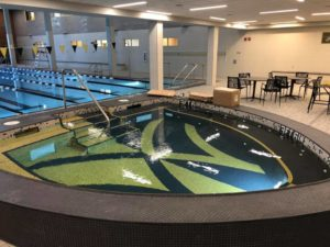The hot tub at the newly-renovated Reynolds Gym pool