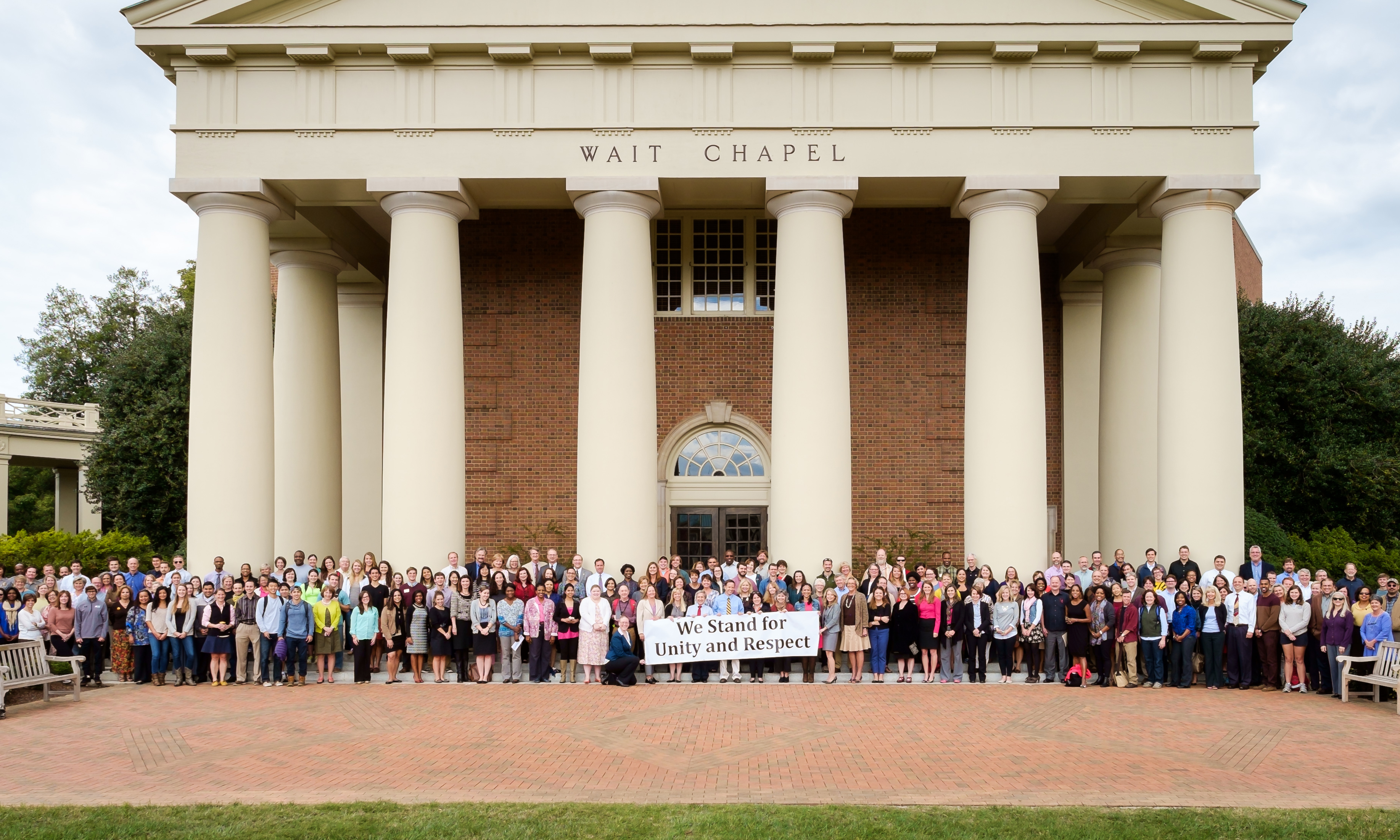Wait Chapel, We Stand for Unity and Respect