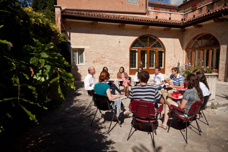 Wake Forest Residential Study Abroad Program, Casa Artom in Venice, Italy, Professor David Lubin, Outside Class