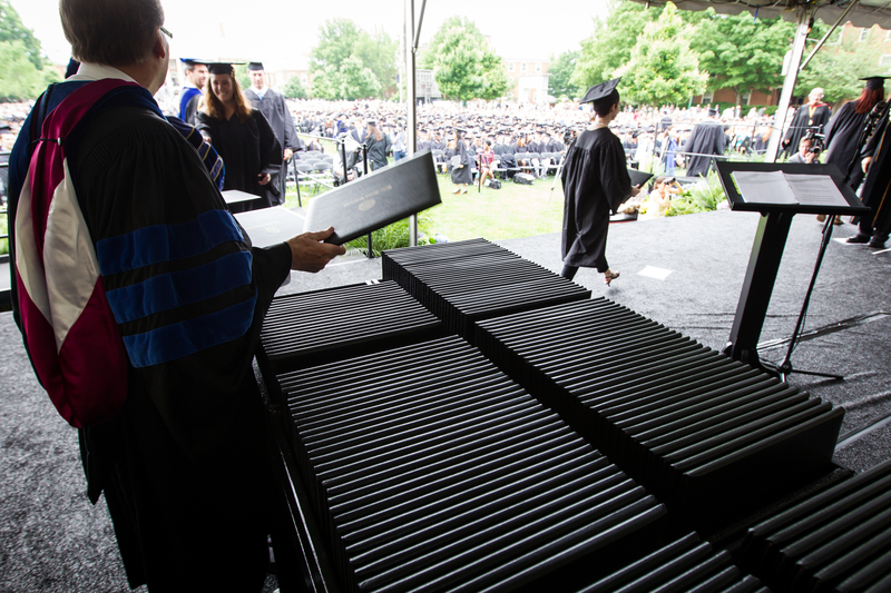 Commencement, Hearn Plaza, Diploma