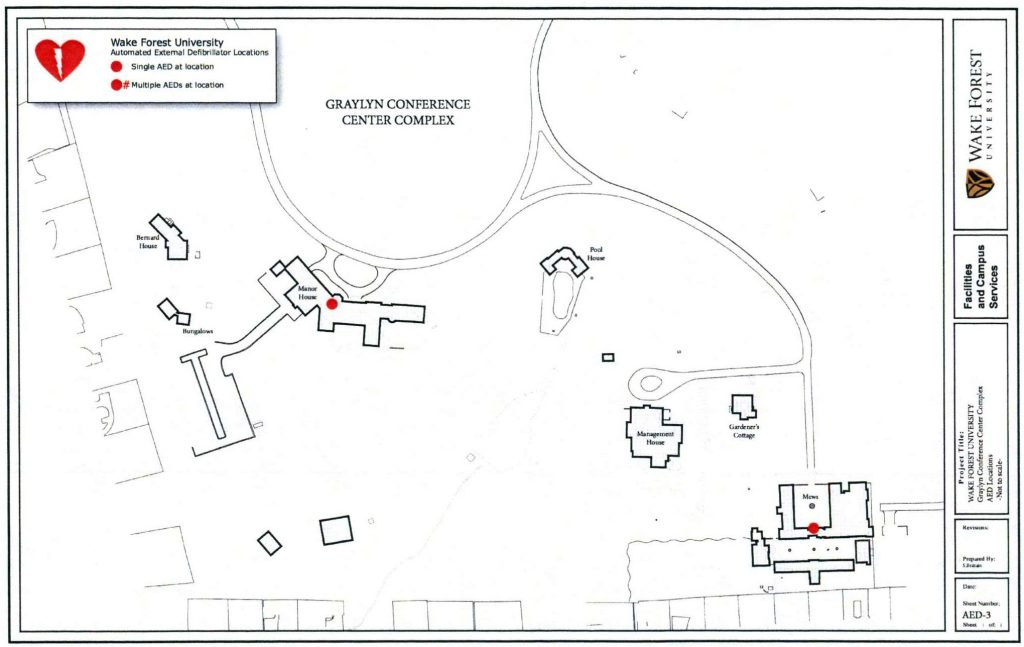 AED Locations Graylyn Conference Center Complex