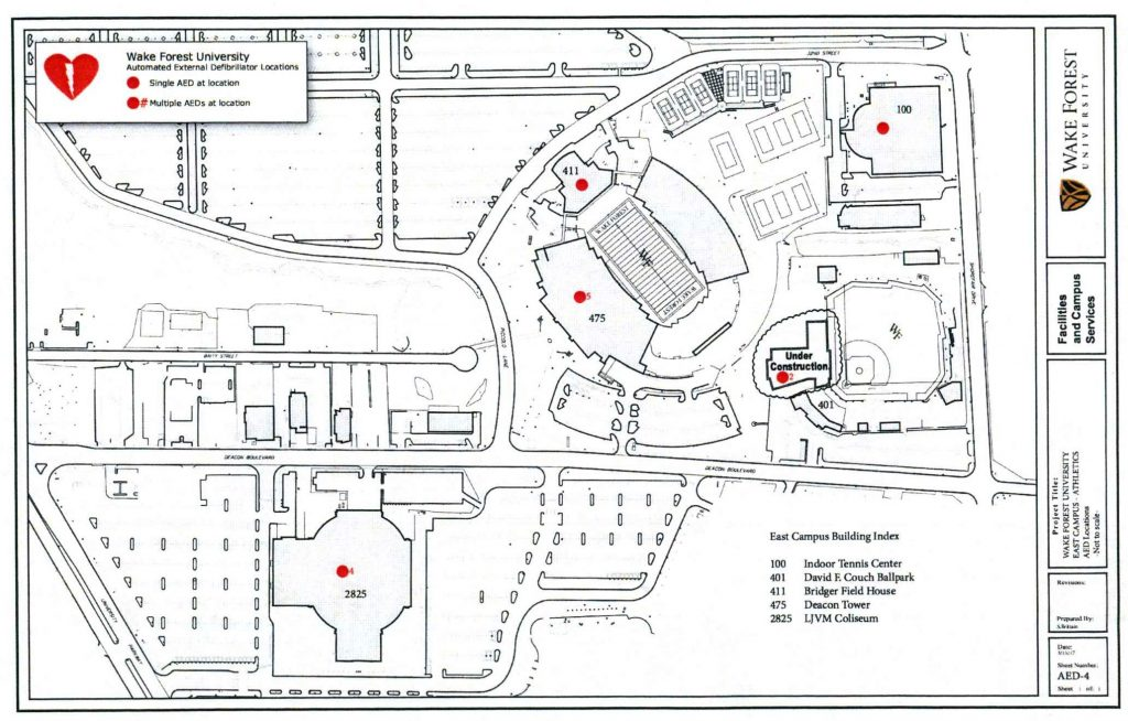 AED Locations Athletic Facilities