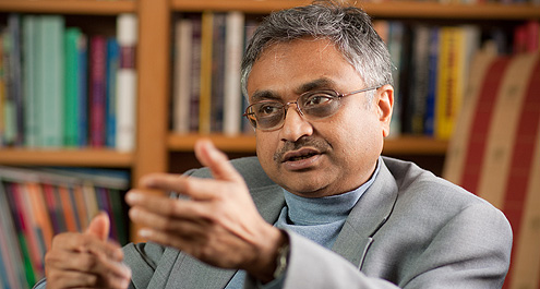 """Professor and Chair of Communication Ananda Mitra: Don't call """"Slumdog Millionaire"""" a Bollywood film or accept it as reality."""