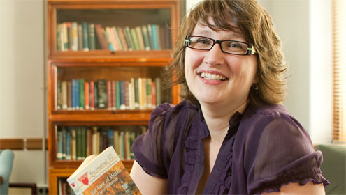 Lynn Neal, an assistant professor of religion who researches Christian romance novels.