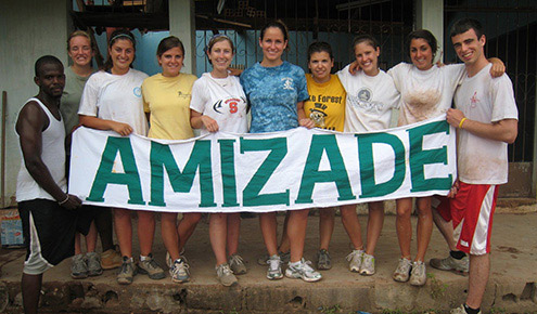 The Wake Forest student group in Brazil last year.