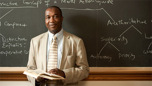 Washington M. Wingate Professor of Religion Simeon Ilesanmi.