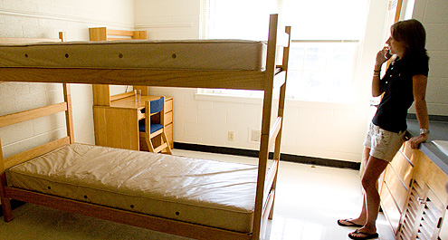 Today's college students unpack high expectations and anxiety when they move into their residence-hall rooms.