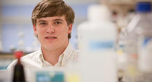 Carson Moseley ('09) and other graduates uncover a possible flu treatment.
