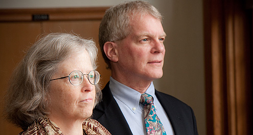 Medical school professor Nancy M. P. King and Reynolda Campus communication professor Michael Hyde are leading interdisciplinary research into communication's role in addressing bioethics issues.