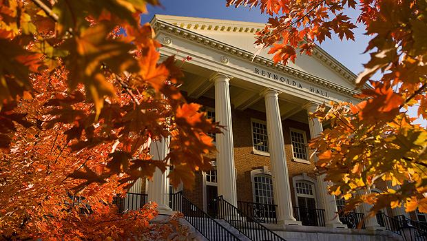 Reynolda Hall in the fall