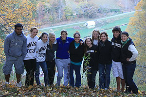 Wake Forest students at Cove Creek Farm