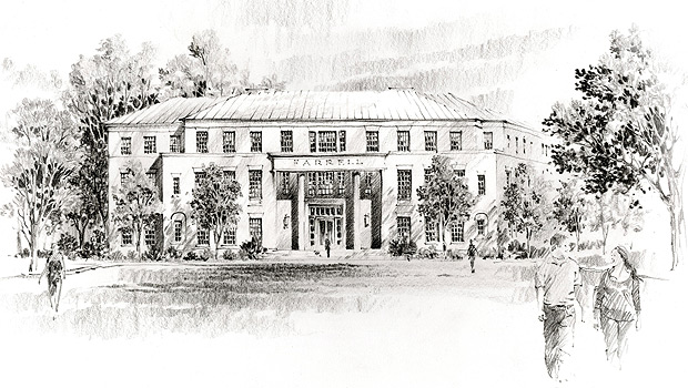 Sketch of future Schools of Business building