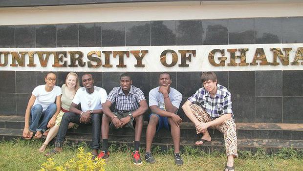 Wake students at the University of Ghana