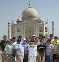 Wake Forest students in front of the Taj Mahal