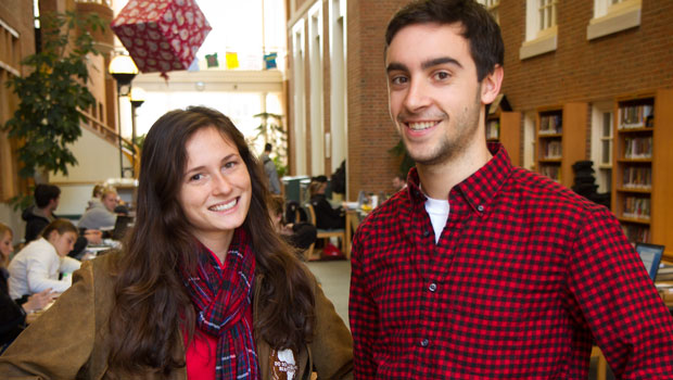 Kate Masetta ('11) and Anthony DePalma ('12)