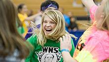 Students dance at Wake 'n Shake