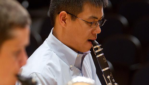 Andre Nguyen on clarinet
