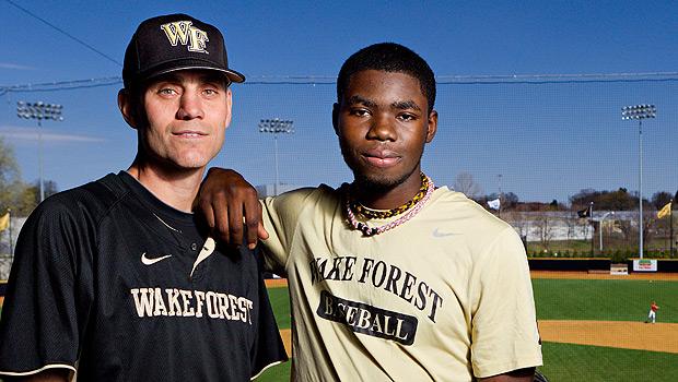 Coach Tom Walter and Kevin Jordan