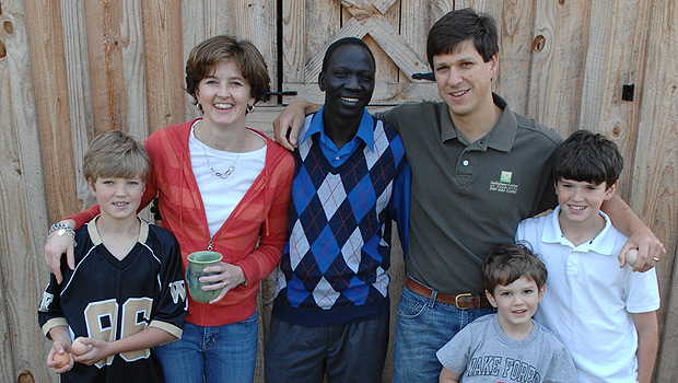 The Bragg family and James Lubo