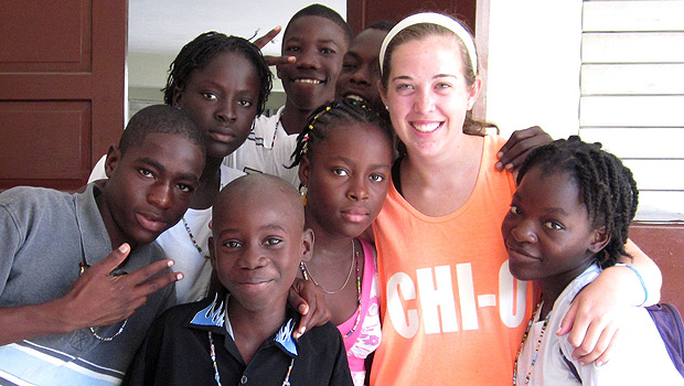 Katie Tassinari in Haiti