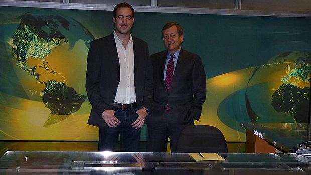 Lee Ferran (left) and Brian Ross, ABC News' chief investigative correspondent