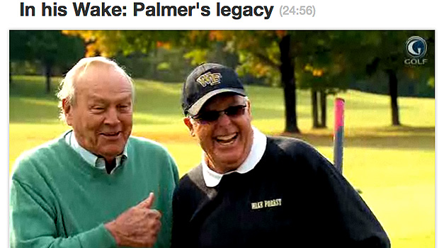Arnold Palmer on the Golf Channel