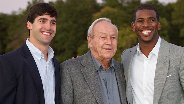 Riley Skinner, Arnold Palmer and Chris Paul