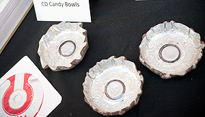 CD candy bowls