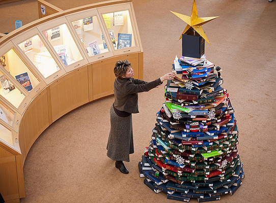 Angie Hobbs and the book tree