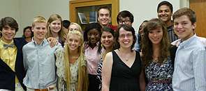 Program director Leigh Stanfield (center, black dress) with LENS participants