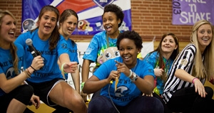 Students enjoy the Wake 'n Shake dance marathon