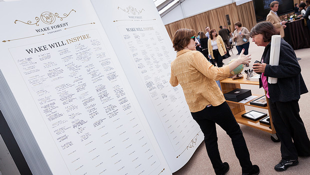As part of the Wake Will campaign launch, supporters signed their names in a giant guest book.