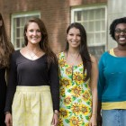 The 2014 Fulbright Scholars are (from left) Deanna Margius, Anmargaret Warner, Jessica Argenti, Sammie Herrick, Dorronda Bordley, Courtney Flynn, and Meenu Krishnan (not pictured).