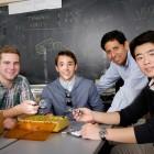 STEM incubator project partners and mentor, l-r, Jack Janes, Dominic Prado, Paul Pauca and Ran Chang.