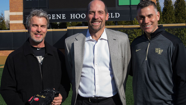 David Couch ('84), former major league pitcher John Smoltz and Tom Walter, the Wake Forest baseball coach