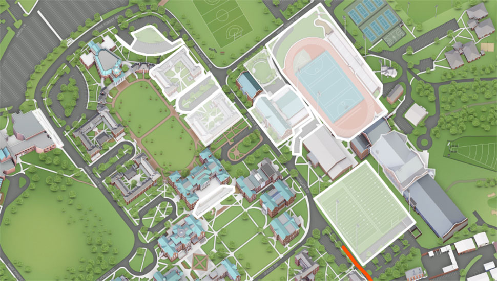 What's a work in progress? Shaded areas show current construction.
