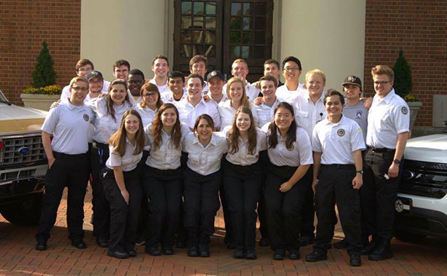 Wake Forest EMS student volunteers