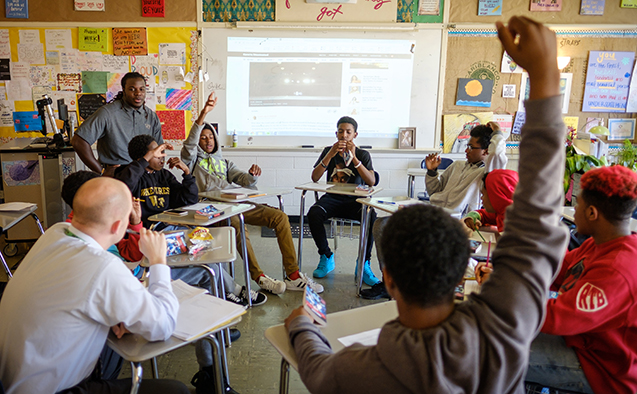 Wake Forest student-athletes read to local school children