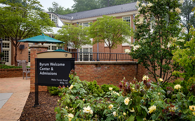 Porter Byrum Welcome Center at Wake Forest University