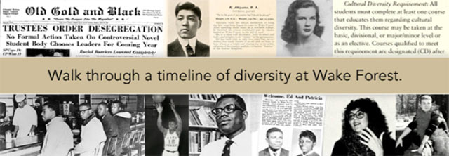 Walk through a timeline of diversity at Wake Forest