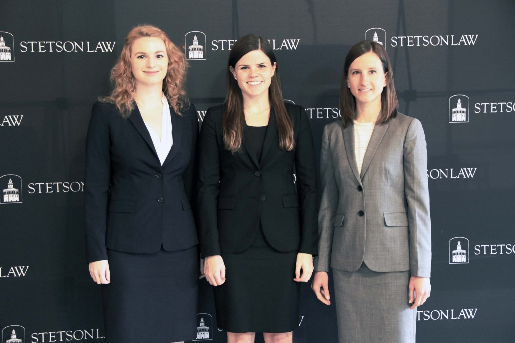 Ashley Escoe ('16), pictured far right.