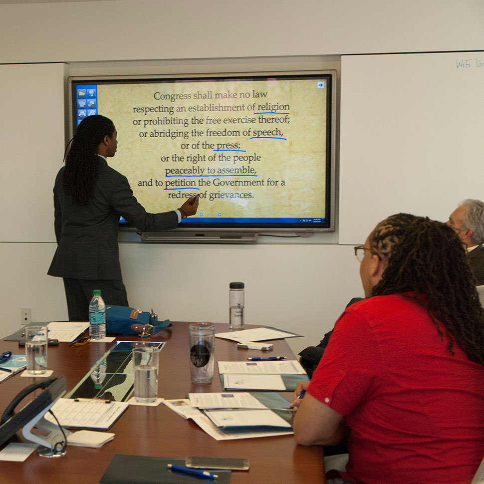 Students visit the Baptist Joint Committee for Religious Liberty in Washington, D.C.