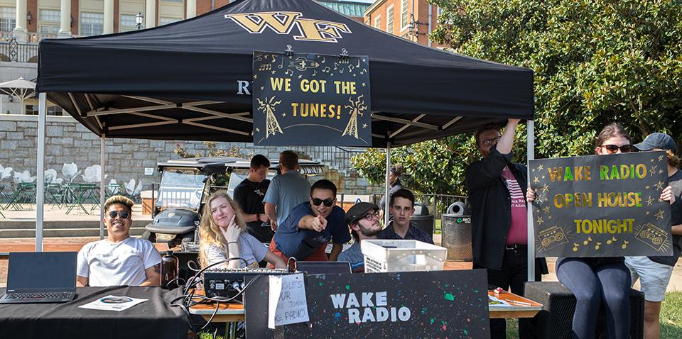 Wake Radio at the Fall Student Involvement Fair