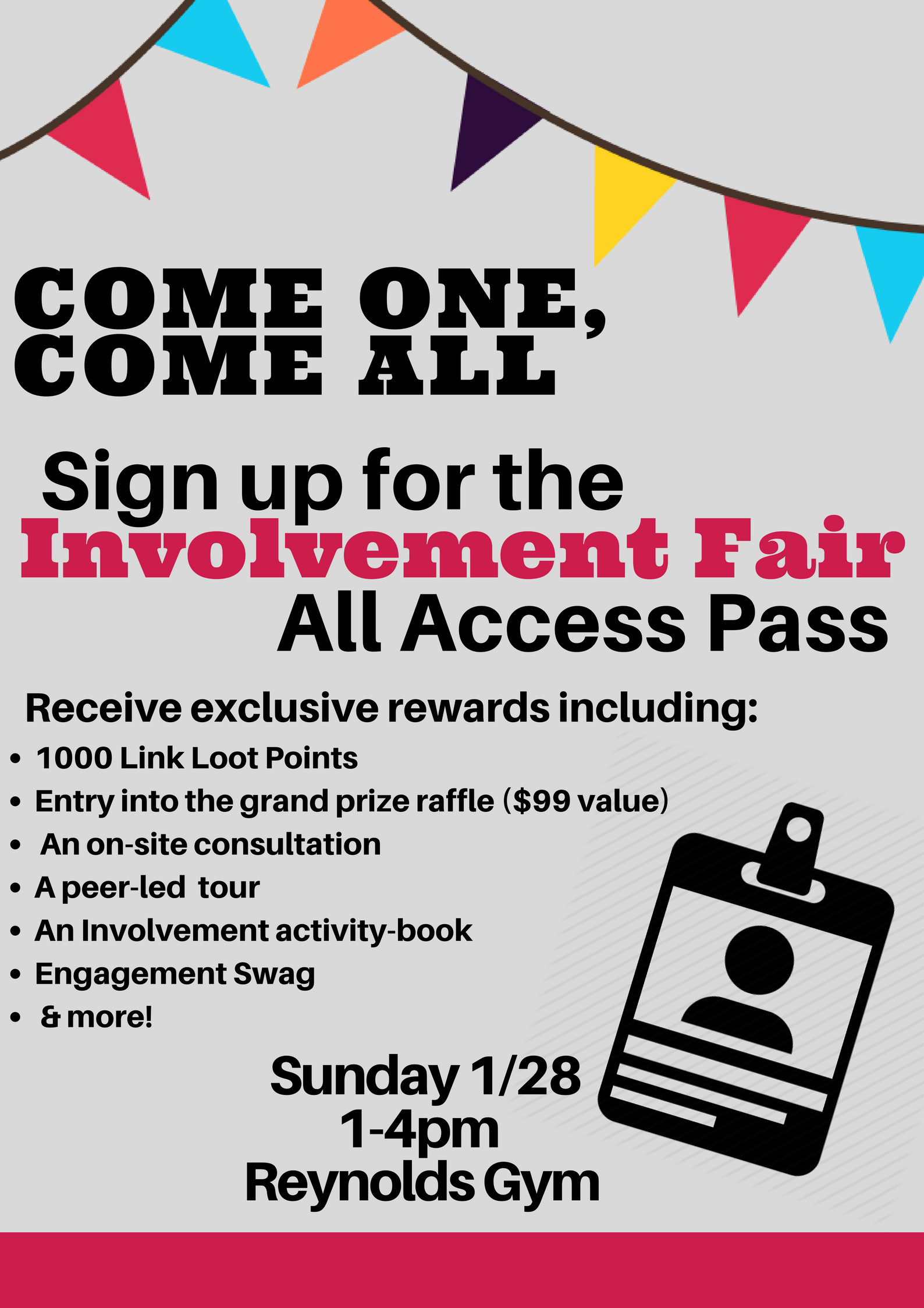 Student Involvement Fair 2018 All Access Pass is a great way to find your place on campus!