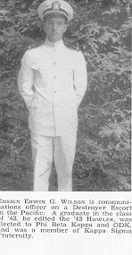 Edwin Wilson, President of Philomathsian Literary Society in 1942