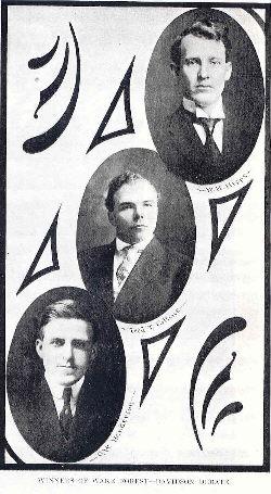 1909 Davidson Debaters W. H. Hipps, Fred T. Collins, O. W. Henderson