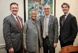 James Otteson, Muhammad Yunus, Rogan Kersh and Adam Hyde