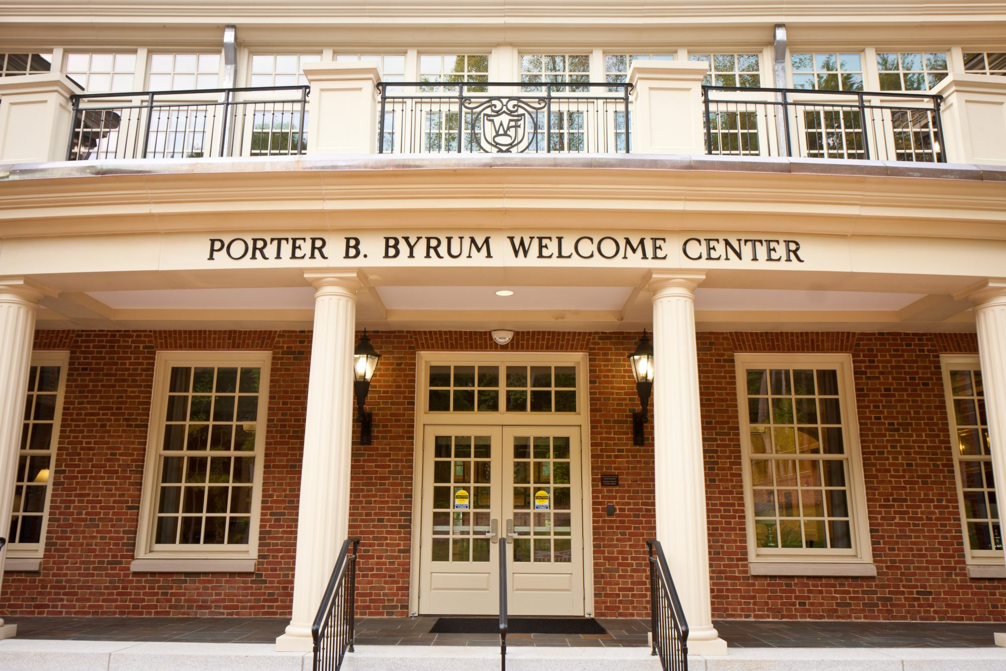 The new welcome and admissions center was officially dedicated as the Porter B. Byrum Welcome Center in 2011.