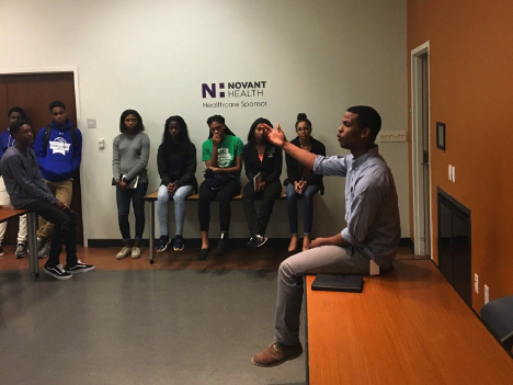 College LAUNCH students visit Novant Medical Center.