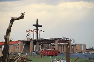 Joplin, Missouri, tornado damage.